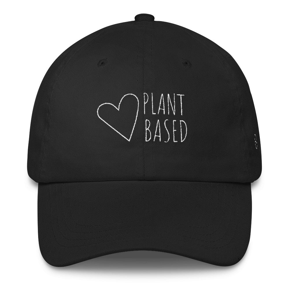 Plant Based: Classic Dad Cap Hat Black