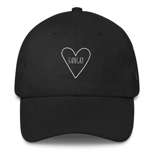 Love Hangry Heart: Classic Dad Cap Hat Black
