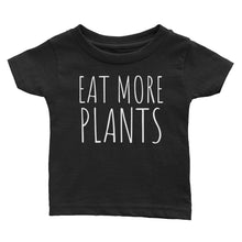 Eat More Plants - Kids Infant Tee Black