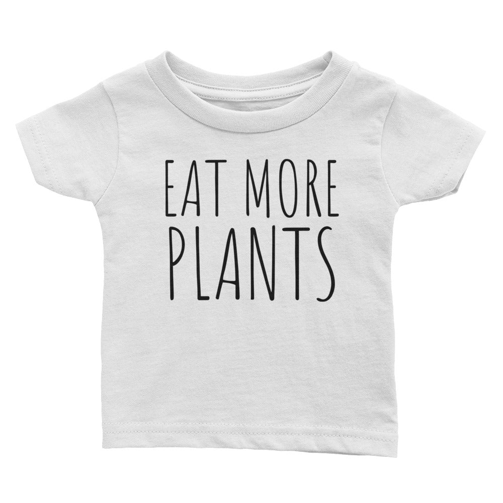 Eat More Plants - Kids Infant Tee White