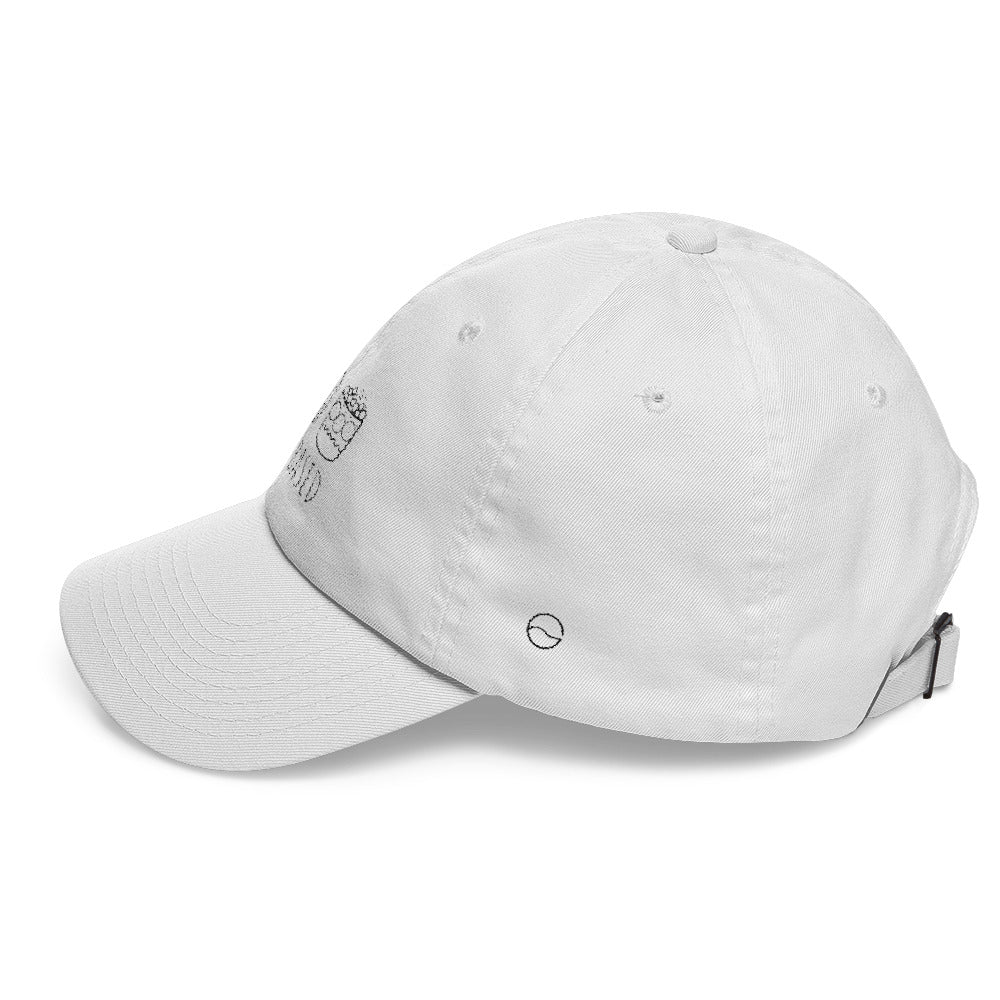 11ee0465 Plant Based Icons: Classic Dad Cap Hat White – CRAVE THE DAY® Clothing