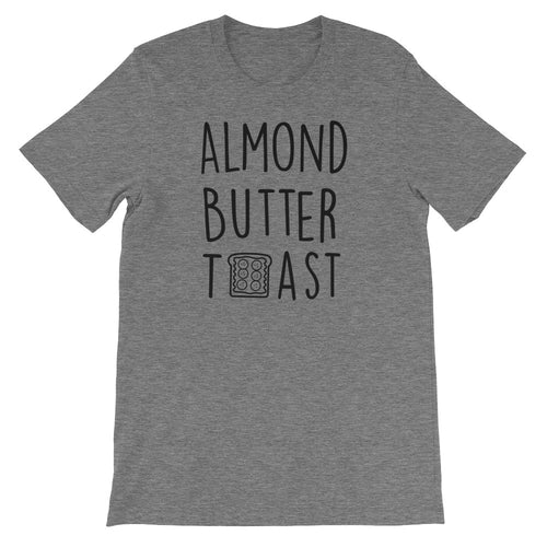 Almond Butter Toast: Deep Heather Grey Men's T-Shirt