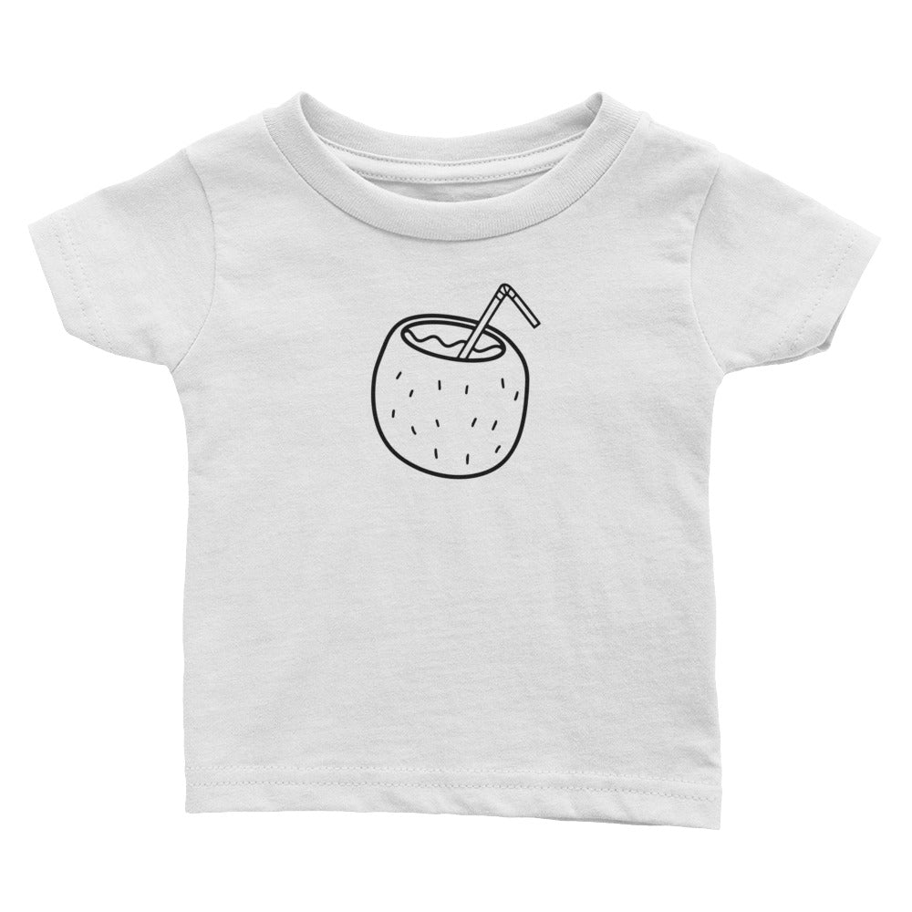 Little Coconut - Kids Infant Tee White