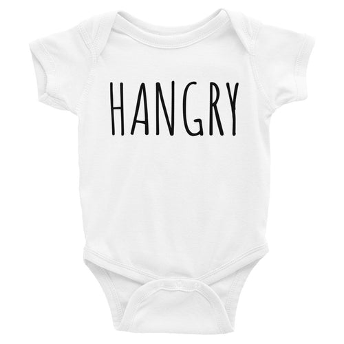 HANGRY - Kids Infant Short Sleeve Bodysuit White