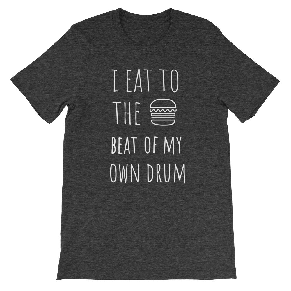 I Eat To The Beat of My Own Drum: Burger Dark Grey Heather Men's T-Shirt