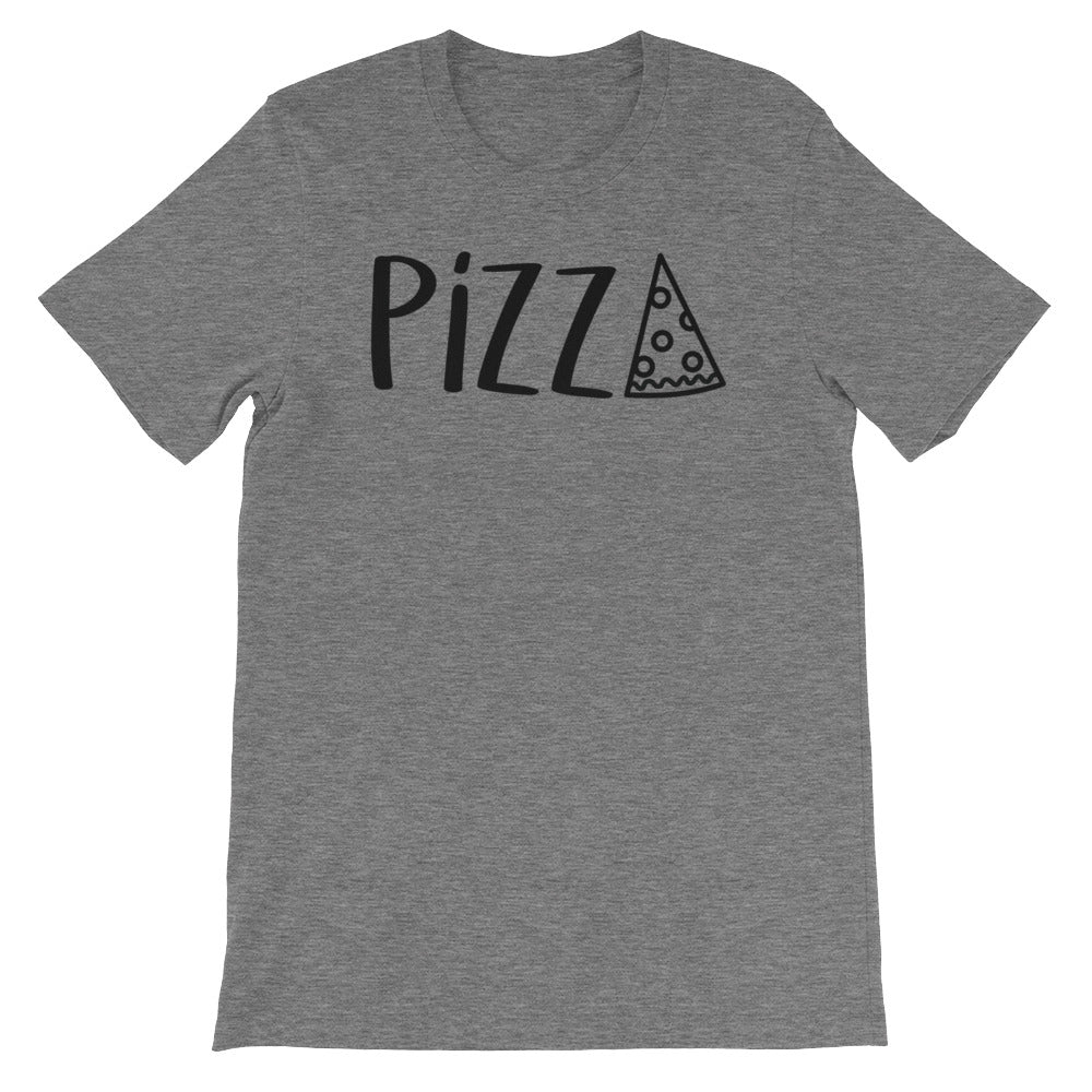 Pizza: Deep Heather Grey Men's T-Shirt