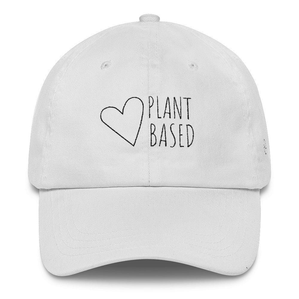 Plant Based: Classic Dad Cap Hat White
