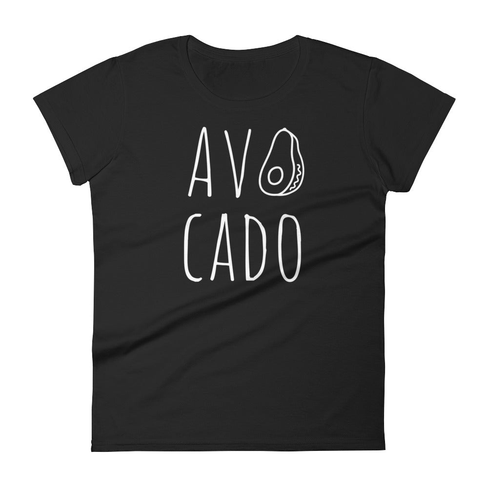 Avocado: Black Ladies T-Shirt