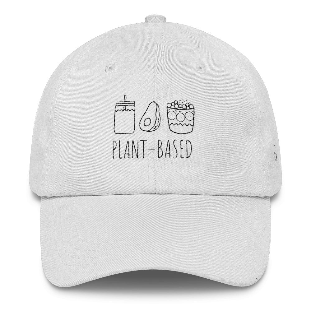 Plant Based Icons: Classic Dad Cap Hat White