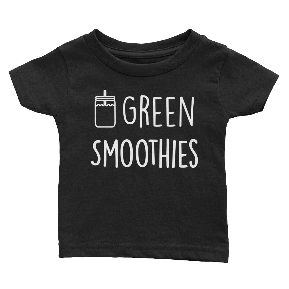 Green Smoothies - Kids Infant Tee Black