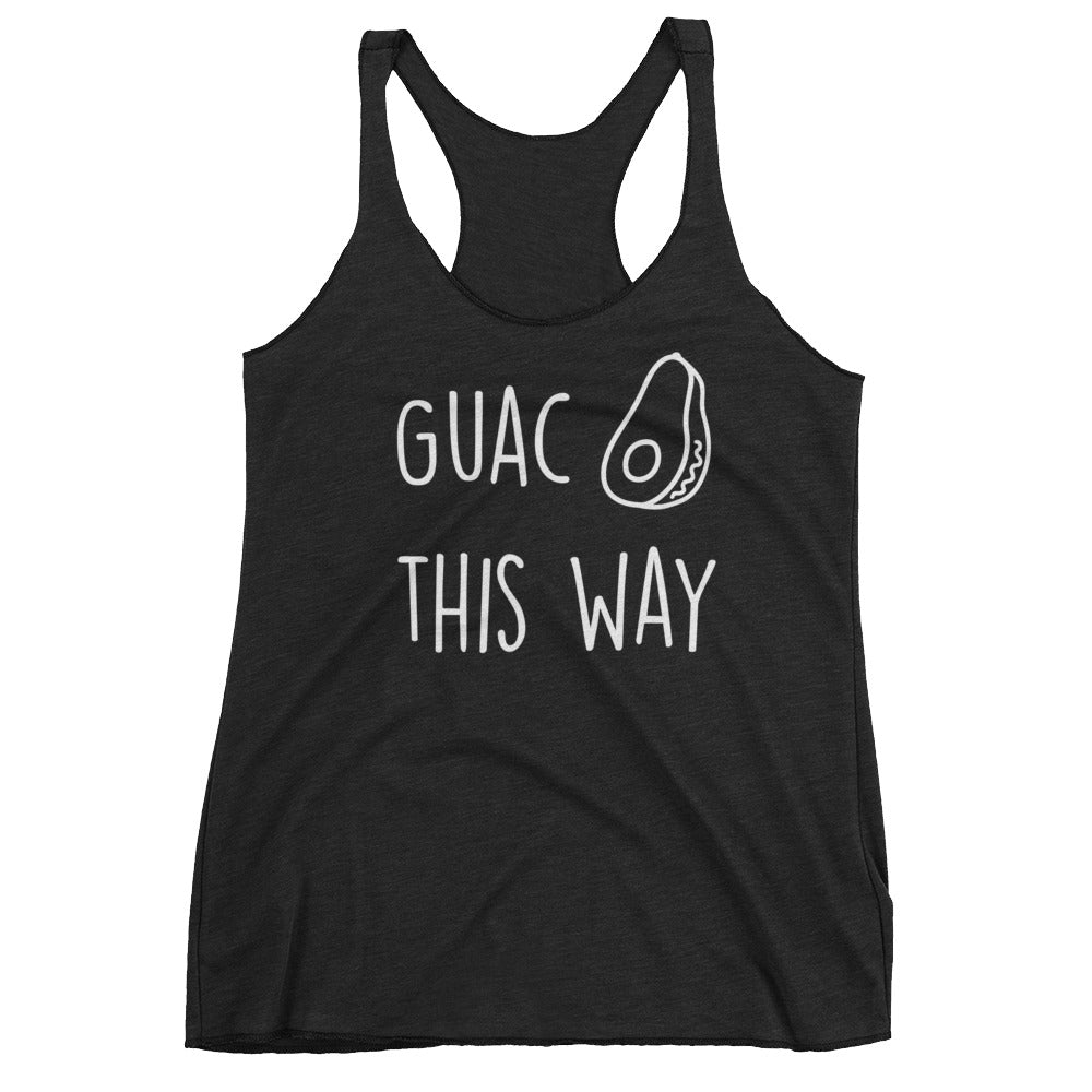 Guac This Way: Black Ladies Tank Top