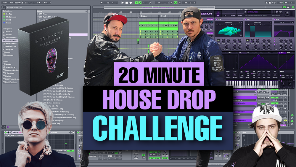 """20 Minute Bass House Drop Challenge"" Serum Preset & Racks"