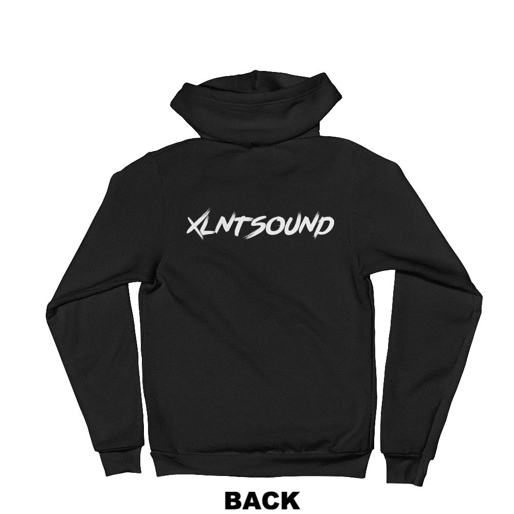 xlntsound merch hoodie jacket merchandise logo back