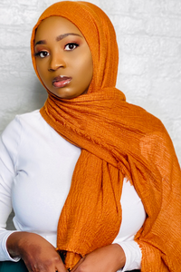 BARAKAH-Burnt Orange Cotton