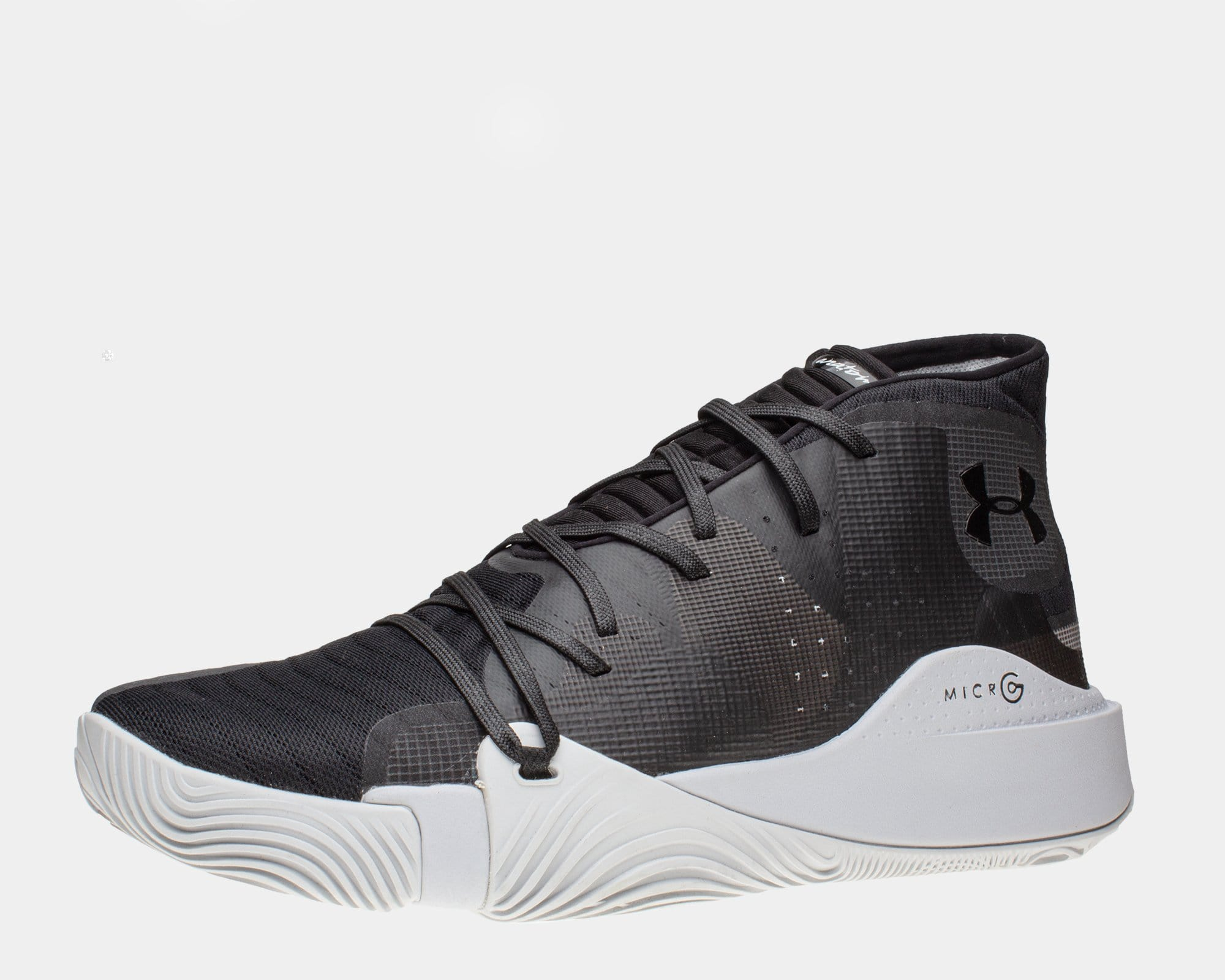 Under Armour Mens Spawn Mid Basketball Shoes Black Sports Breathable Lightweight