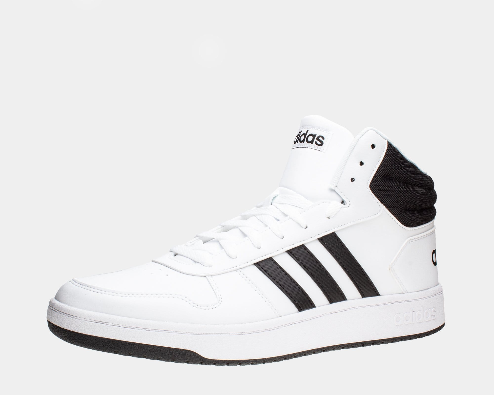 huge selection of d6ac0 c868b adidas Hoops 2.0 Mid Sneakers - Mens Large Sizes