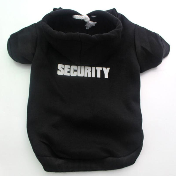 """Security"" Hoodie for your Pug! - Black / XS - justpugstuff.com"