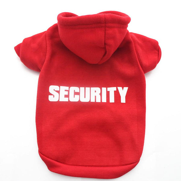 """Security"" Hoodie for your Pug! - Red / XS - justpugstuff.com"