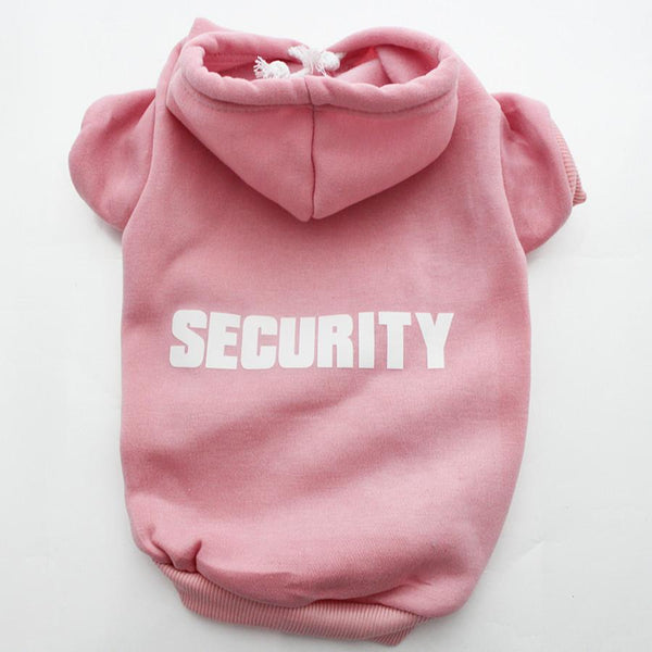 """Security"" Hoodie for your Pug! - Pink / XS - justpugstuff.com"