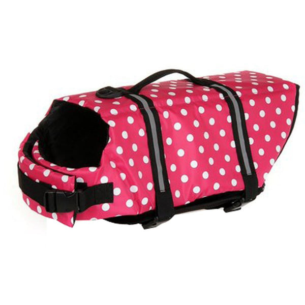 Adjustable Dog Life Jacket - Pink Dots / L - justpugstuff.com