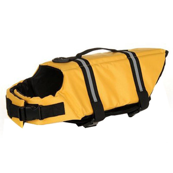 Adjustable Dog Life Jacket - Yellow / L - justpugstuff.com