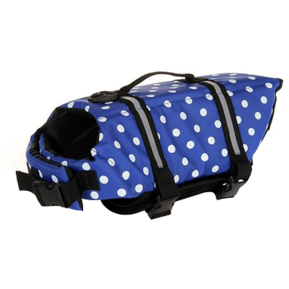 Adjustable Dog Life Jacket - Blue Dots / L - justpugstuff.com