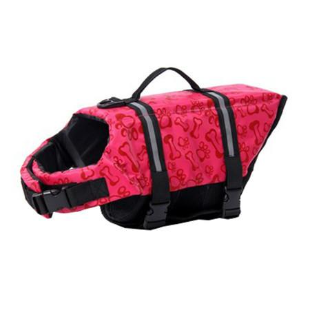 Adjustable Dog Life Jacket - Red Bone / L - justpugstuff.com