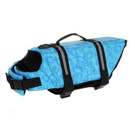Adjustable Dog Life Jacket - Sky Blue Bone / L - justpugstuff.com