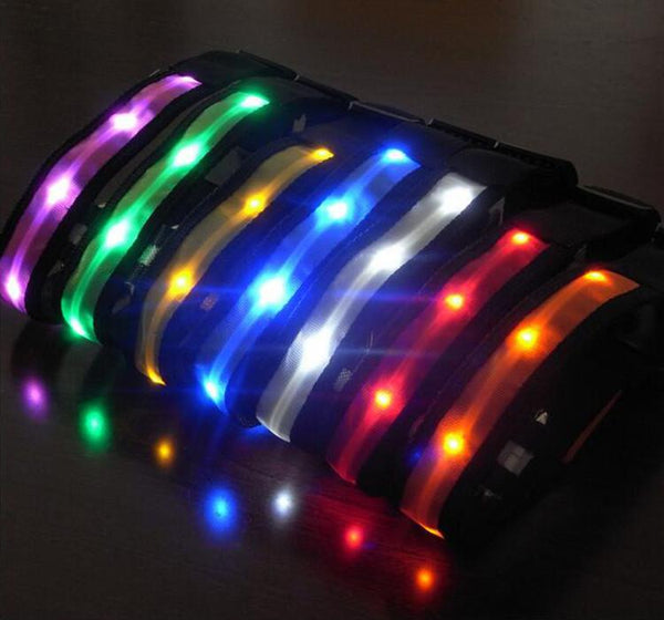 Glow-In-The-Dark LED Safety Collar -  - justpugstuff.com