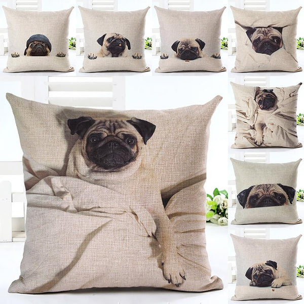 Decorative Pug Sofa Throw Pillow Covers - 8 styles to choose from! -  - justpugstuff.com