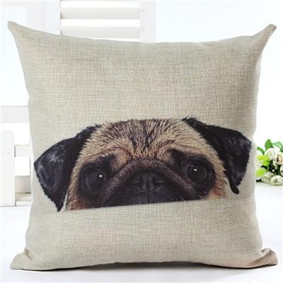 Decorative Pug Sofa Throw Pillow Covers - 8 styles to choose from! - 1 - justpugstuff.com