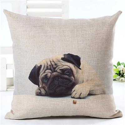 Decorative Pug Sofa Throw Pillow Covers - 8 styles to choose from! - 2 - justpugstuff.com