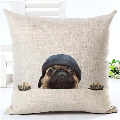 Decorative Pug Sofa Throw Pillow Covers - 8 styles to choose from! - 3 - justpugstuff.com