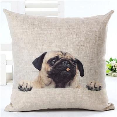 Decorative Pug Sofa Throw Pillow Covers - 8 styles to choose from! - 4 - justpugstuff.com