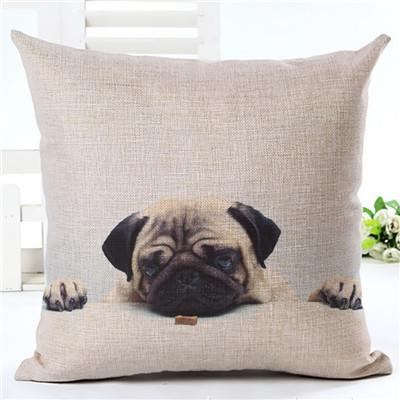 Decorative Pug Sofa Throw Pillow Covers - 8 styles to choose from! - 5 - justpugstuff.com