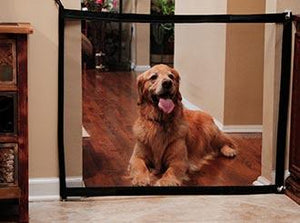 MAGIC-GATE PORTABLE FOLDING DOG GATE -  - justpugstuff.com
