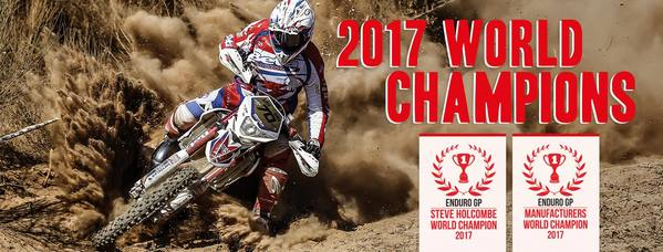 2016 & 2017 World Enduro Champions!