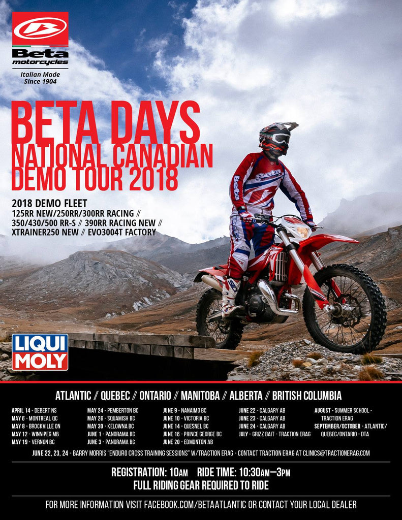 Beta Days National Demo Ride Tour!