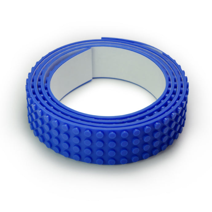 Lego Tape - Wide 1 Metre Blue Roll - 4 Dots Wide
