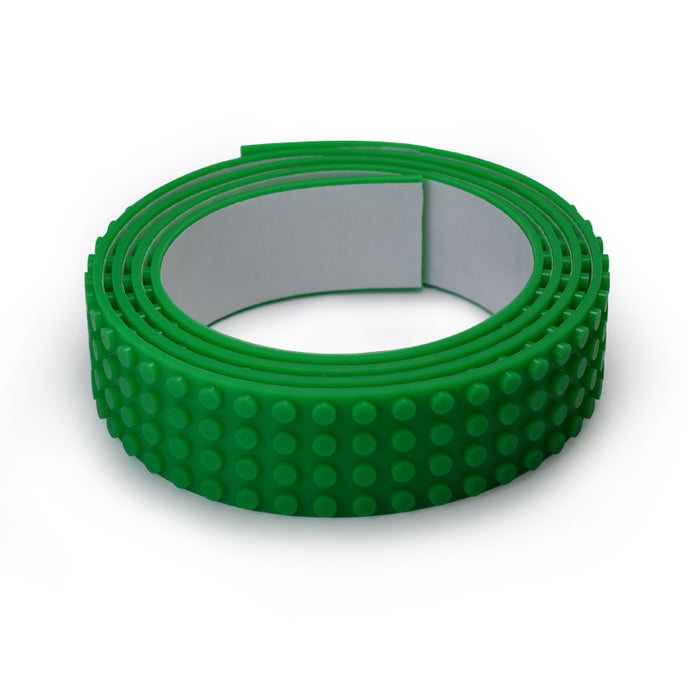 Lego Tape - Wide 1 Metre Green Roll - 4 Dots Wide