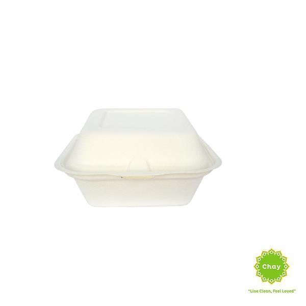 Biodegradable Bagasse Box/Plate (10 pcs) 6.5in/450ml box