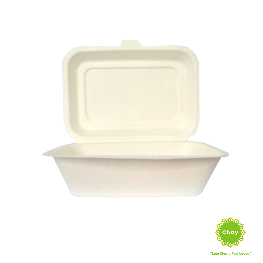 Biodegradable Bagasse Box/Plate (10 pcs) 7in/600ml box