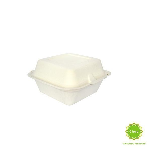 Biodegradable Bagasse Box/Plate (10 pcs) 7in/600ml burger box