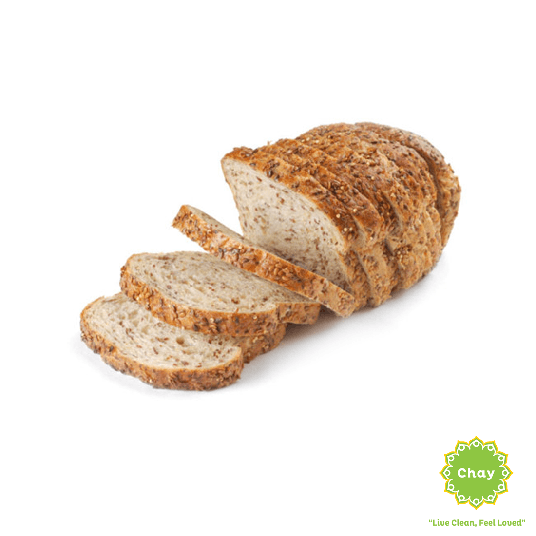 [BK004] Organic Alpine Seeded Bread 600g (V) en Harvest Baking Sliced