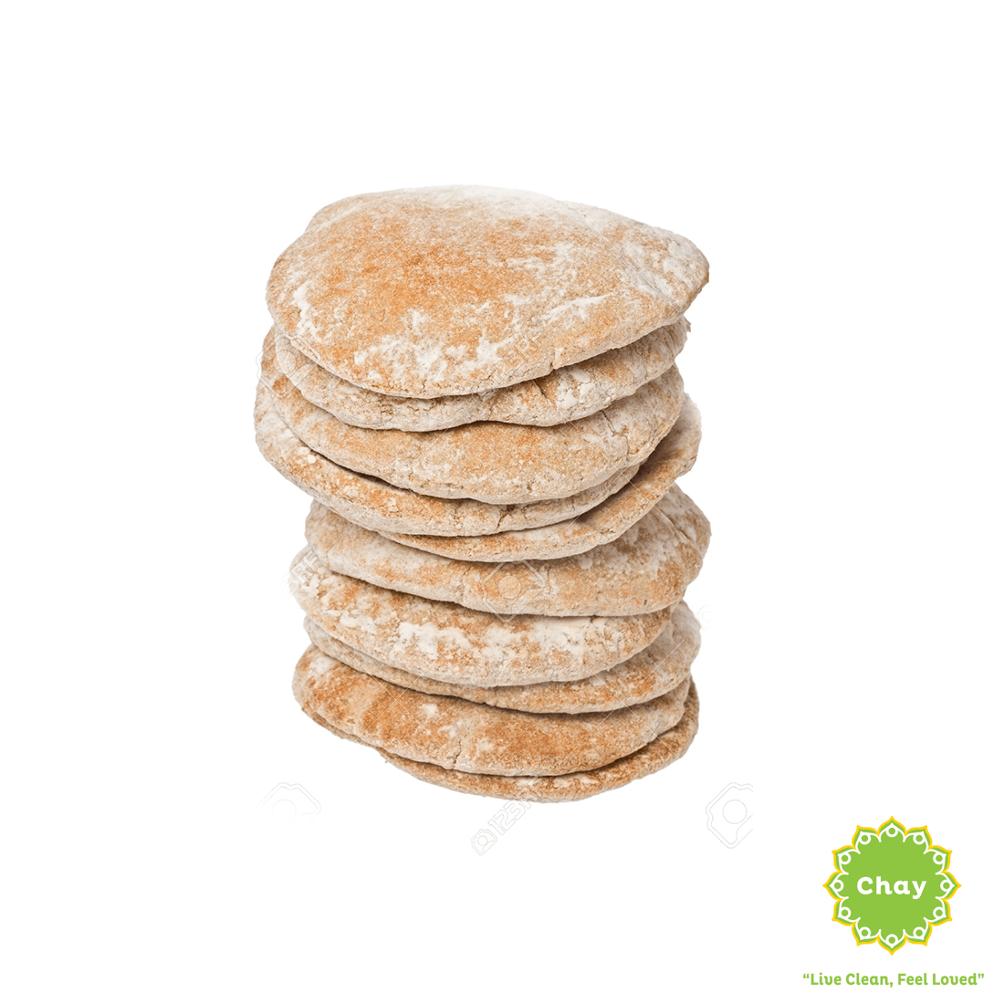 [BK008] Whole Wheat Pita Bread (6 pcs) (V) en Harvest Baking