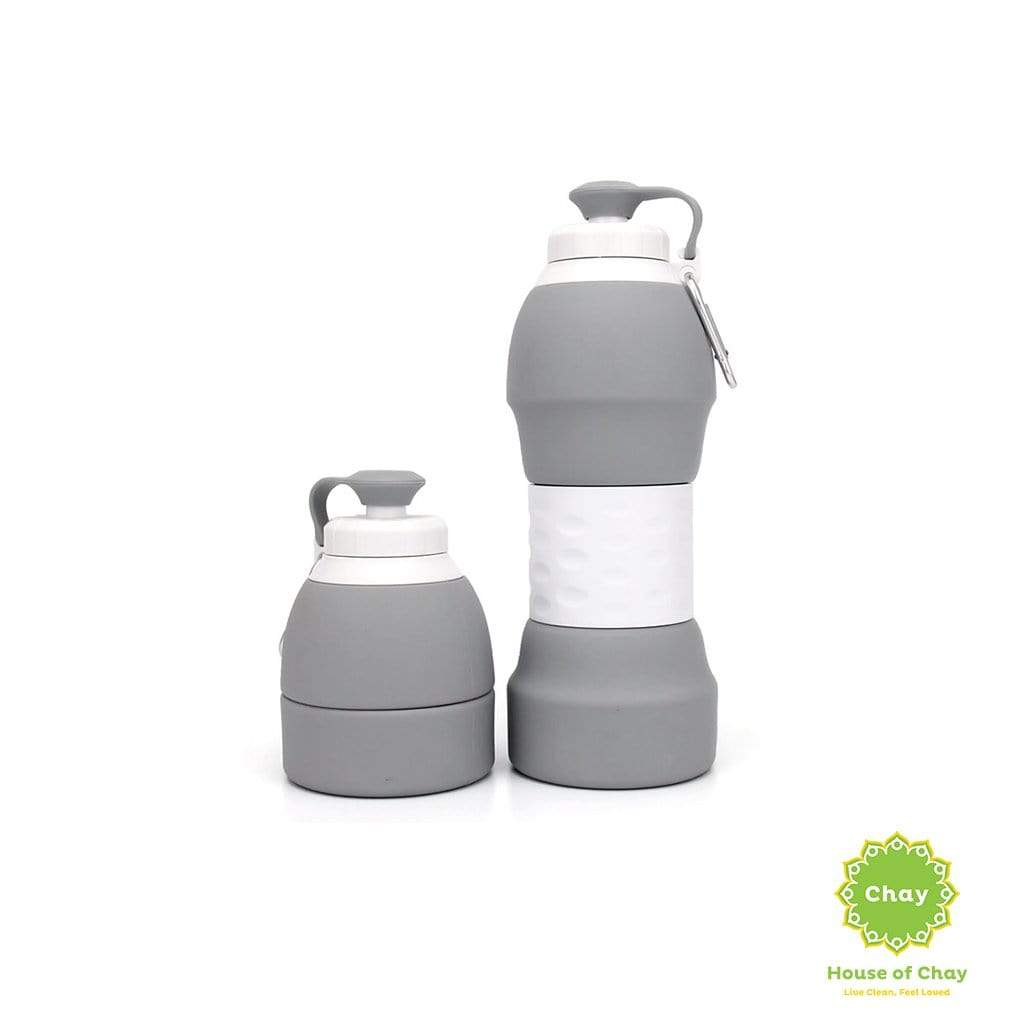 Colapsible Silicon Bottle (580ml) Cool Gray