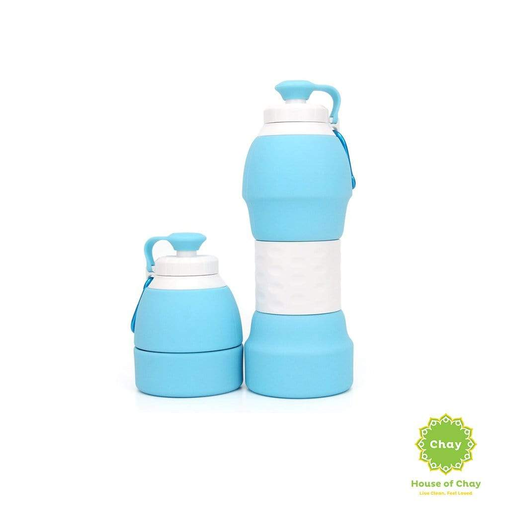 Colapsible Silicon Bottle (580ml) Sky Blue