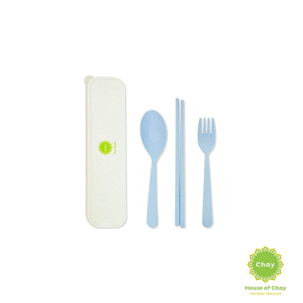 Colourful Reusable Biodegradable Wheat Straw Cutlery Set