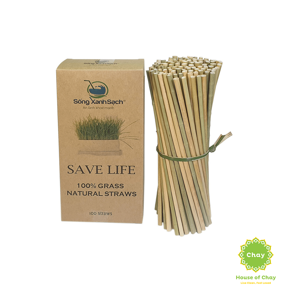 Disposable Dried Grass Straw (100 pcs)