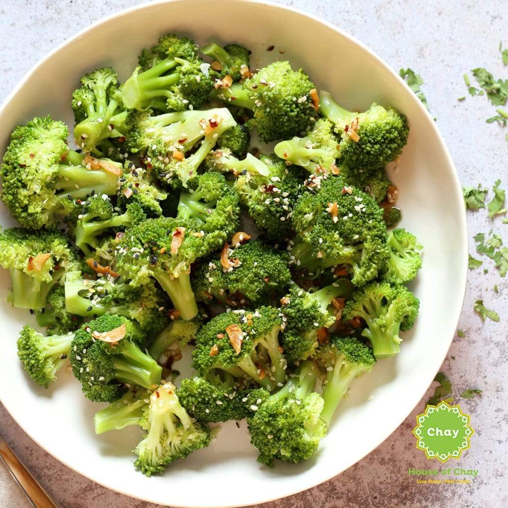 Garlicky Brocolli (V)